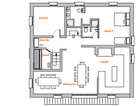 Chalet Floor Plan Ice and Orange Chalets Tissires